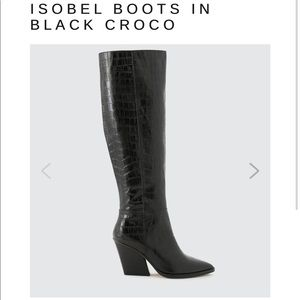 Dolce Vita Isabel Croc Knee High Boots